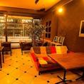 店主がこだわった備品が散りばめられているカフェスペース★お洒落な空間でゆったりとお過ごし下さい。