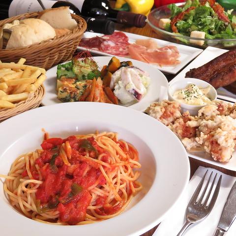 ◆各種宴会に◆イタリアンコース 飲み放題2H付き4,000円