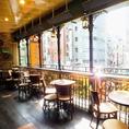 開放的なテラス席は早い者勝ち◎渋谷道玄坂を見下ろしながら飲むビールは格別です♪
