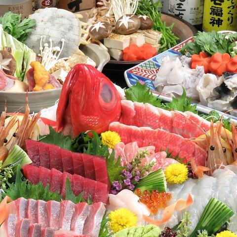 三陸の新鮮なお魚や岩手の旬食材使用のご宴会コースは4000円から。個室も人気◎