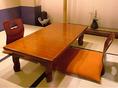 【お座敷席】ゆっくり寛ぎながらお食事をお愉しみください~カウンター席・テーブル席・お座敷・掘りごたつ席・個室など総席数47席!ご宴会最大数35名様まで可能です。お客様の人数に合わせ、ご案内いたします。お席の詳細などお気軽にお問い合わせください。※写真は一例です