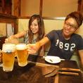 【お店に行ってみました♪】まずはお決まりのキンキンに冷えたビールで乾杯!!今日もお疲れ様でした☆