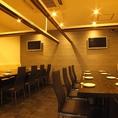 テーブル席で貸切宴会も可能★テーブル席は15名~20名まででご利用いただけます!ご予約限定のお席になりますのでお早めに!!