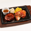 料理メニュー写真デミハンバーグ&チキンステーキ(280g)