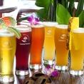 フルーティーなビールはいかがですか?生ビールはハートランドを使用★トロピカルなビールもご用意!パイナップルビールや姫リンゴのような甘酸っぱさが美味しいサンザシビールで、ビールが苦手な方でも美味しく飲めます♪≪トロピカルカクテル飲み放題≫ではこのトロピカルビールも飲み放題!詳しくはクーポンで☆