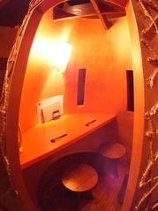 プライベート感たっぷりなカップルシート。かまくら風個室で大切な人と贅沢な時間を…