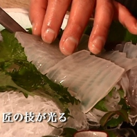 匠の技で新鮮魚介の旨みを最大限に引出します。
