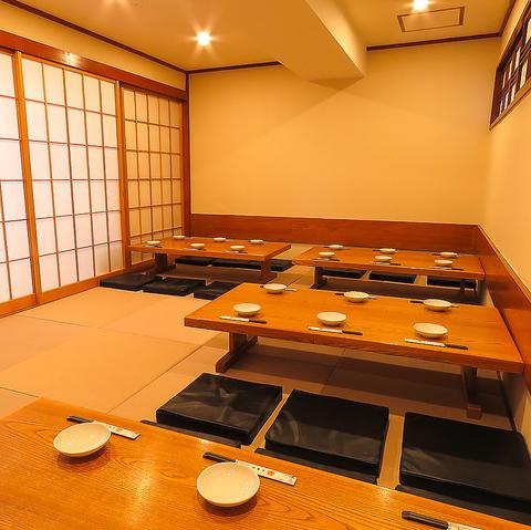 【20名程度まで使える個室あり】広々とお使いいただける個室あり!座敷なので、足を伸ばしたり、移動も楽々で宴会が盛り上がります。下見大歓迎です!