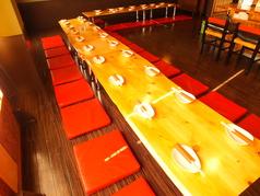 お座敷宴会は最大36名。人数に合わせてお席をレイアウトいたします!貸切は25名~受付!(20~25名はご相談ください)