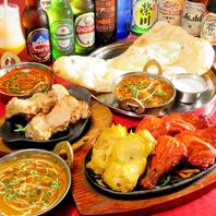 本格的インド料理を豊富に取り揃えております♪