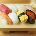 鮮魚自慢の当店で、にぎり寿司をぜひお召し上がりください
