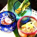 料理メニュー写真沖縄がらす(塩辛)の三種盛り/豆富よう