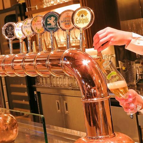 【駅近☆新橋駅2分】本格生ビールを気軽に楽しむ、THE駅前ビアホール!
