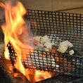注文を受けてから炭火で焼き上げるので出来立てアツアツをご提供!