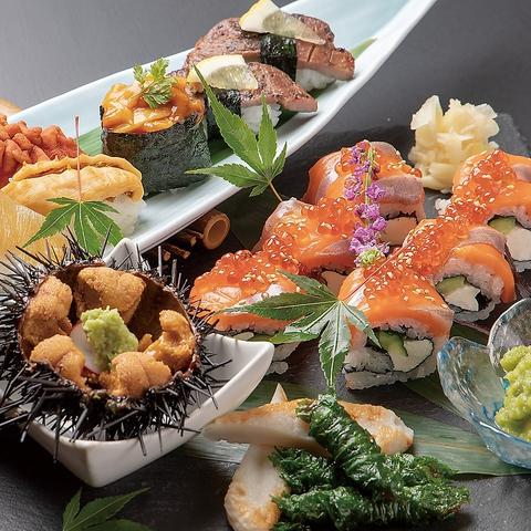 上質なネタで職人が握る本格寿司の食べ放題!!仙台駅前のパルコで大盛況♪