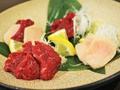 料理メニュー写真三種盛り合わせ(熊本)