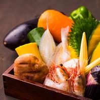 市場から直接仕入れる旬の食材を使用!