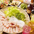 料理メニュー写真しゃぶしゃぶ食べ放題 厳選豚(豚ロース・豚バラ)セット