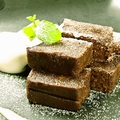 料理メニュー写真濃厚!生ガトーショコラ/アイスチョコレート~ホイップクリームのせ~