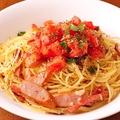 料理メニュー写真トマト&バジルのスパゲティ