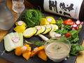 料理メニュー写真農家の地物野菜でバーニャカウダ or みそマヨ
