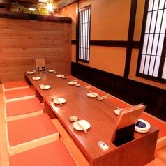【お座敷】足元が楽チンな箱座布団!プライベートな飲み会や会社宴会などにも人気です。