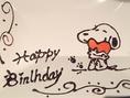 誕生日や記念日には可愛いキャラクターの絵をシェフが腕を振るって書いてくれますよ♪サプライズプレートも承ります♪ぜひお気軽にお声掛けください★