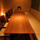 間接照明が優しく灯る個室は各種ご宴会にぴったりの空間です!