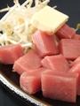 料理メニュー写真まぐろバター/イカバター/ホタテバター/エビバター/タコバター