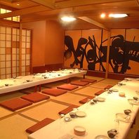 各種宴会に最大70名様までご利用可能な個室をご用意!