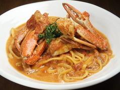 料理メニュー写真渡り蟹のトマトクリームソース