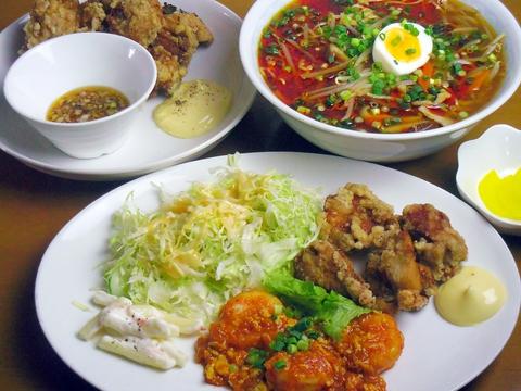 白飯をもりもり美味しく食べることができる中華メインのラーメン・定食屋さん。