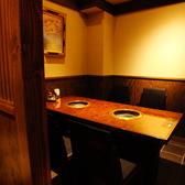 周りを気にせずお食事をお楽しみ頂けるテーブル個室席です♪最大6名様までお座り頂けます!