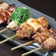 鶏、豚、野菜当店の定番串焼き!