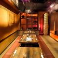 【6~8名様 個室】プライベートを快適に和める雰囲気が漂います。落ち着いた大人の隠れ家的なたたずまいの中で、自慢の創作料理で最高の時間をお過ごしください♪企業宴会、ご接待、・同窓会などにもぜひご利用ください。