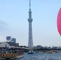 東京スカイツリーを船上から眺められます
