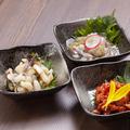 料理メニュー写真おつまみ珍味3種盛り合わせ