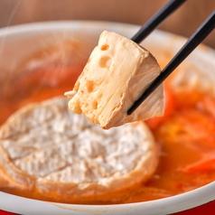 カマンベールチーズのトマト鍋