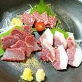 料理メニュー写真熊本直送馬刺し盛