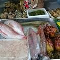 カンパチ、殻つぶ貝、のどぐろ、白烏賊、生牡蠣、ホヤ、白子、あん肝、松茸、他