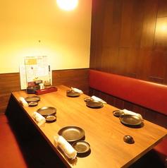 最大6名様迄ご利用頂ける半個室のお席をご用意しております!