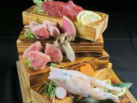 本日の珍肉盛り合わせ珍しい珍肉が楽しめます