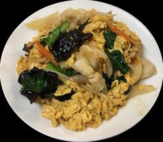 キクラゲと玉子、豚肉、野菜の炒め
