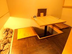 1階の小上がりのお席。2名様用のお席です
