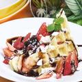 料理メニュー写真【生ワッフル】チョコバナナ/キャラメルバナナ/クリームチーズ&ベリー/黒蜜きな粉