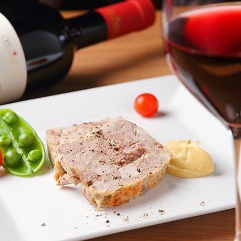 【Rusticoコース -ルスティココース-】 メイン料理2品(魚料理&肉料理)など 全6品 4070円