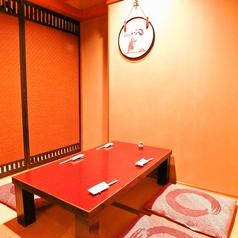 1Fは純和風のお座敷個室。2名~4名様までご利用可能です。