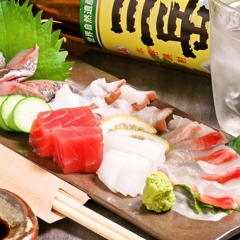 塩と素材に拘った串揚げ&肉!!新鮮鮮魚!!生ビール&銘柄日本酒焼酎単品飲放題1500円♪