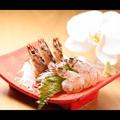 料理メニュー写真車海老の活き造り(踊り)(三尾)