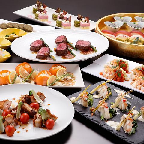 ホテルだから出来る和洋中のご宴会料理。シーンごとに合わせてご提案致します。
